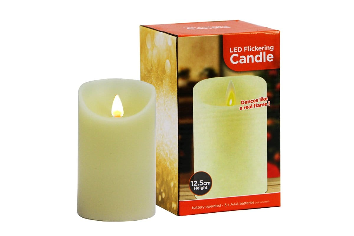 LED Flickering Candle: Battery Operated - Christmas World