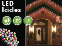 180 LED Icicle Lights 3.5M - Multi Colour - Christmas World