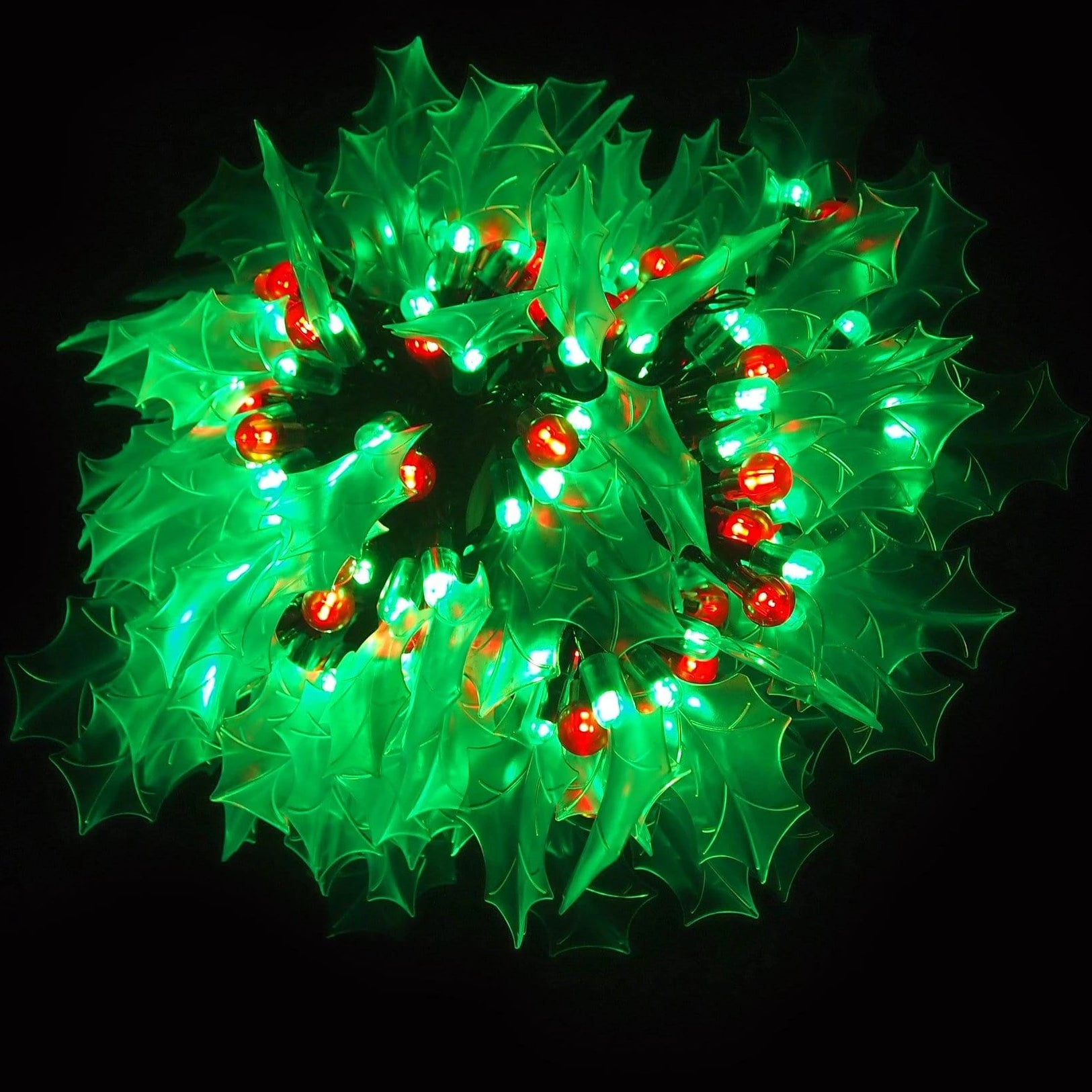 240 LED Holly Lights 80 Pack - Christmas World