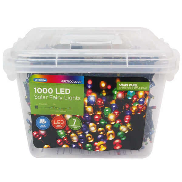 Solar Fairy Lights - Multicolour - 1000pc