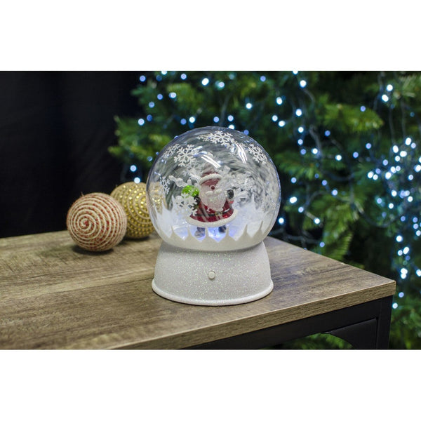 LED Snowglobe with Music Colour Change - Christmas World