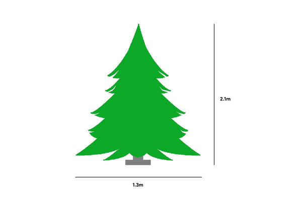 Pre-Lit LED Deluxe Royal Pine Christmas Tree - 2.1m tall