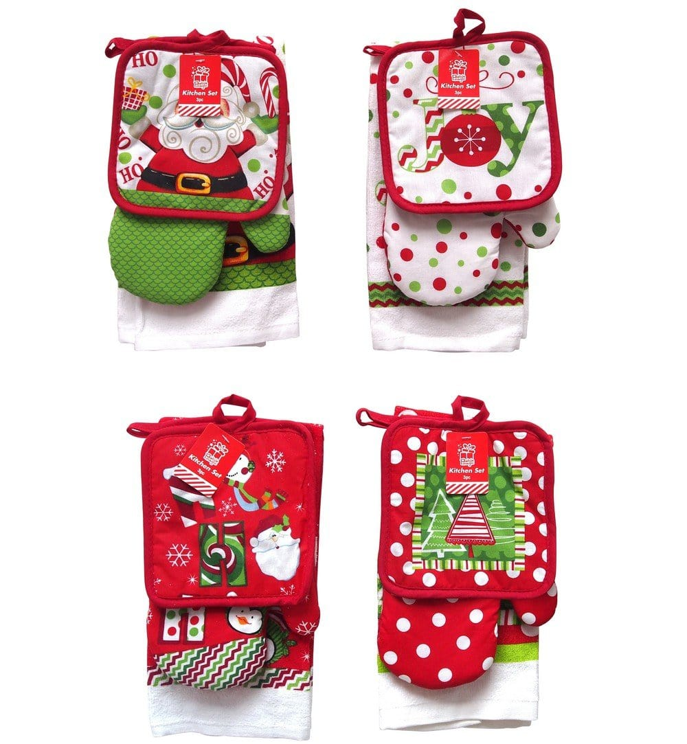 Christmas KITCHEN SET 3PC 4ASST - Christmas World