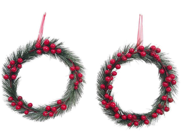 XMAS BERRIES WREATH 24cm