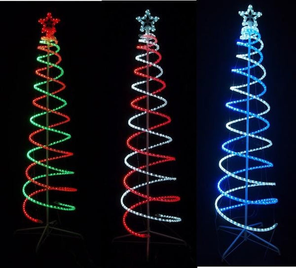 LED ROPELIGHT SPIRAL TREE 1.8m - Christmas World