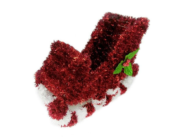 TINSEL SLEIGH w/ HOLLY BERRY 30cm