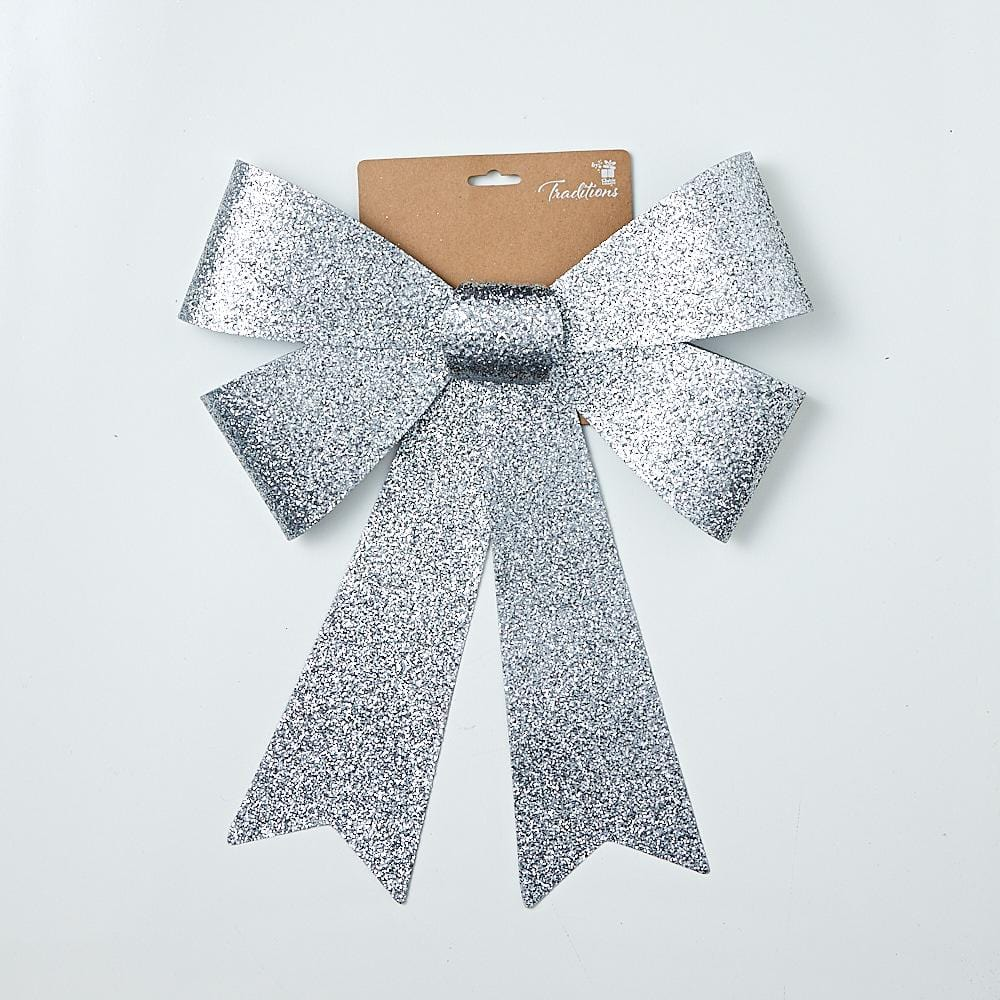 GLITTER DELUXE BOW JUMBO 30x43cm Available in 3 Colors - Christmas World