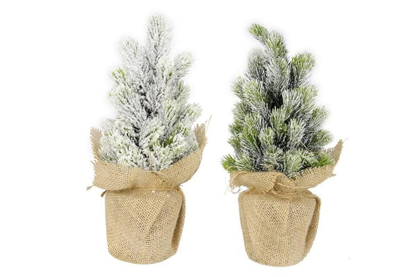 REAL LOOK MINI PINE JUTE POT 35cm