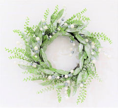 EUCALYPT WREATH SILVER GLITTER 50cm - Christmas World