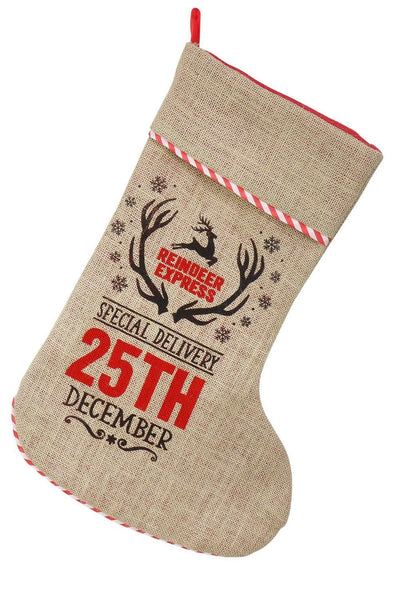 VINTAGE STOCKING SPECIAL DELIVERY STITCHED EDGE 58cm
