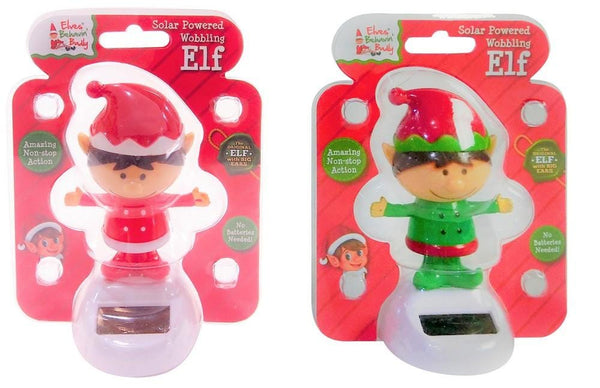 Solar Powered Wobbling Elf
