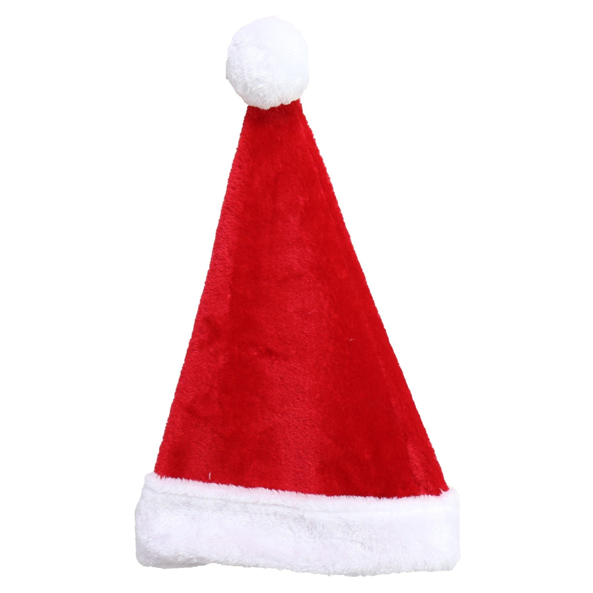 Plush Santa Hat - Adults