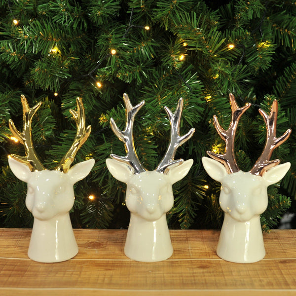 Glazed Stag Head Deco