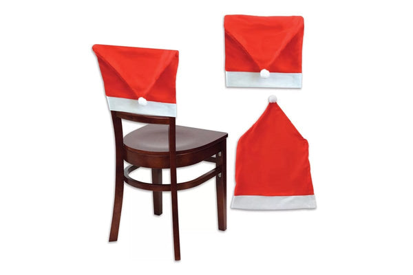 SANTA HAT CHAIR COVERS 4pcs
