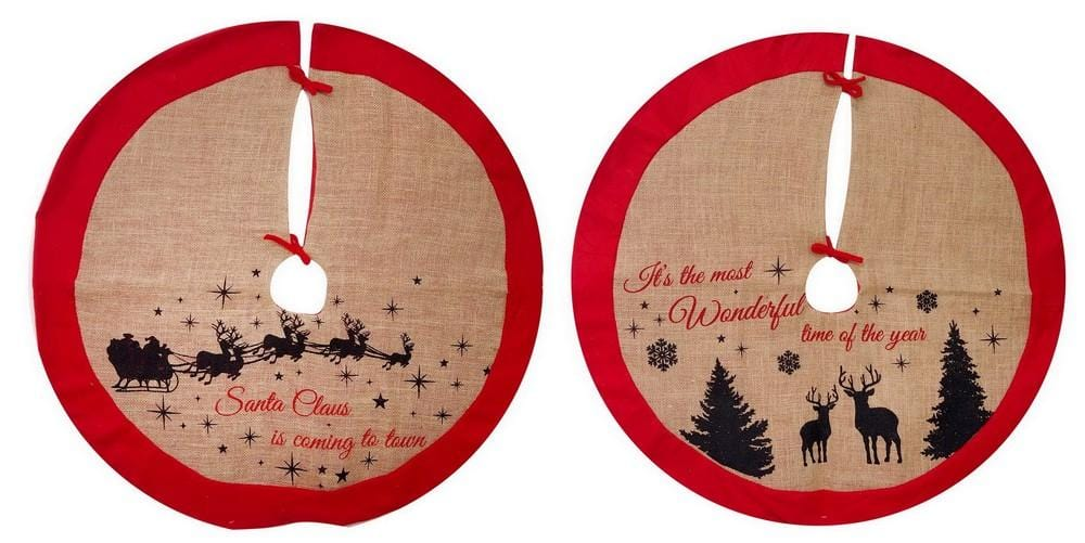TREE SKIRT JUTE FELT TRIM 90cm