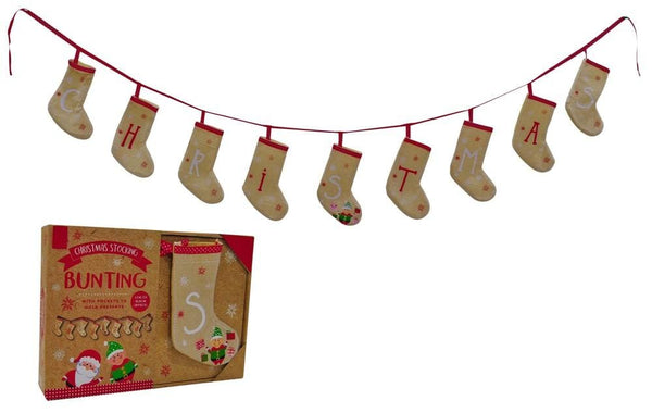 CHRISTMAS STOCKING BUNTING 160cm - Christmas World
