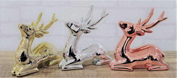 TABLE DECO SITTING REINDEER 12cm 3asst