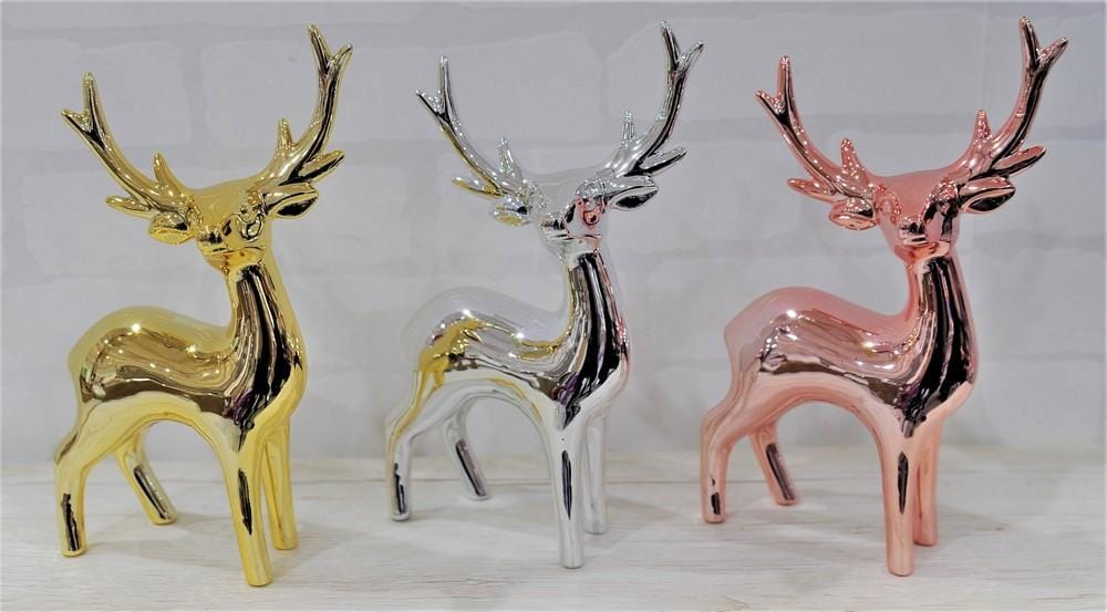 TABLE DECO STANDING REINDEER 21cm available in 3 colors