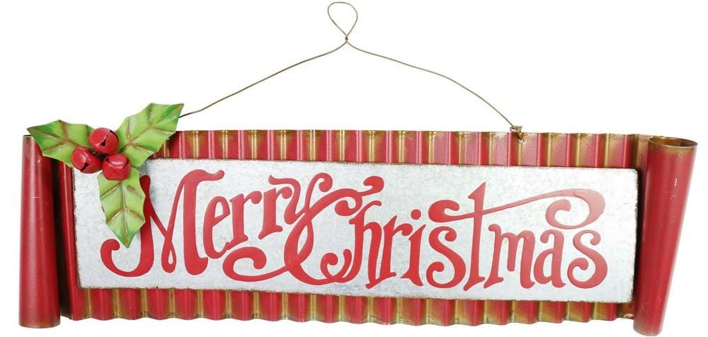 VINTAGE MERRY CHRISTMAS SIGN 47cm