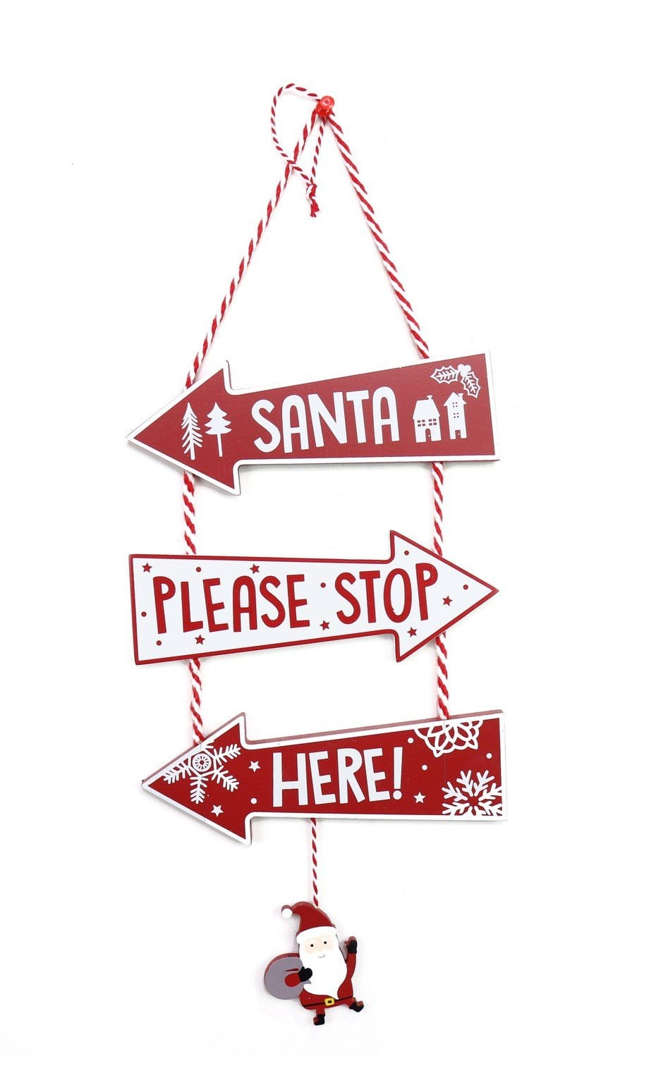 ARROW SANTA STOP SIGN 3pc - Christmas World