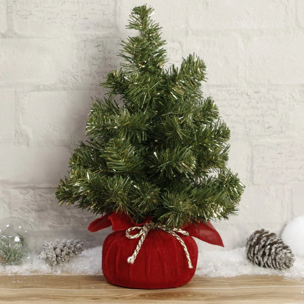 Christmas Tree in Red Sack - 40cm