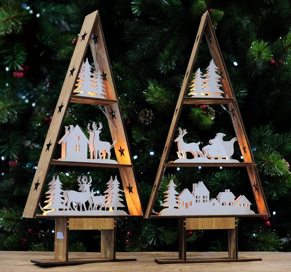 LIGHT UP TABLE VILLAGE TREE 49cm