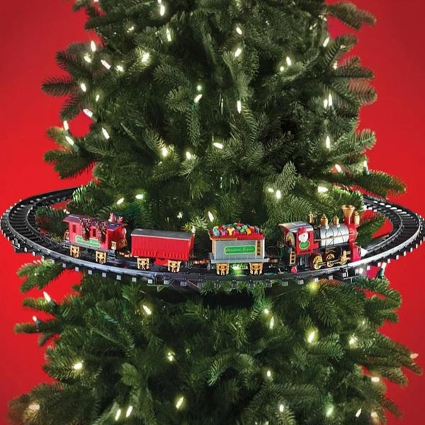 Tree-Mounted Train Set