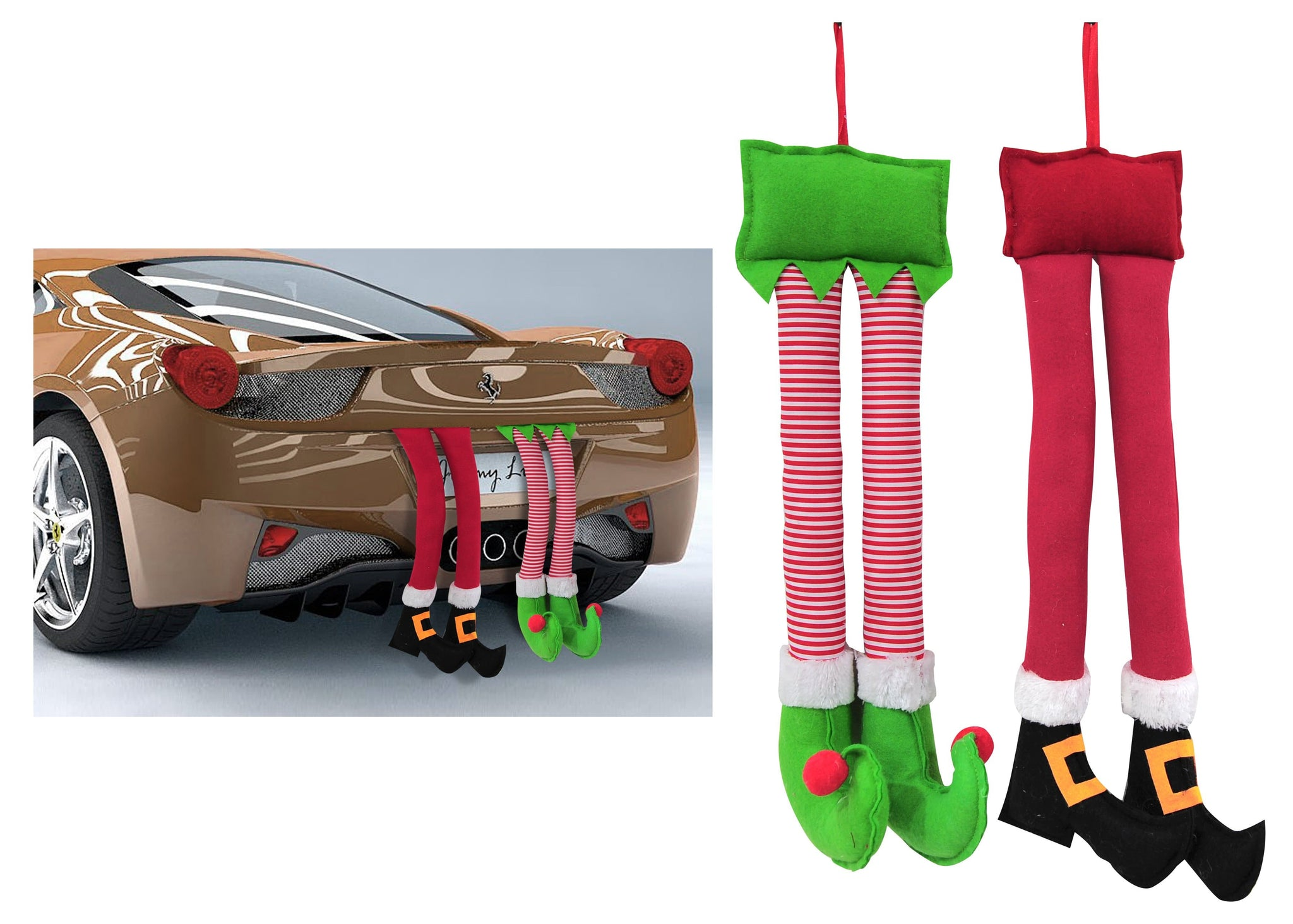 CAR TRUNK DECO LEGS 47cm - Christmas World