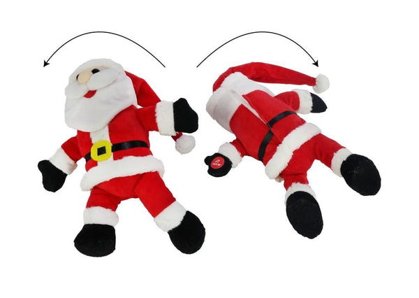 ROLLING LAUGHING SANTA PLUSH 20cm