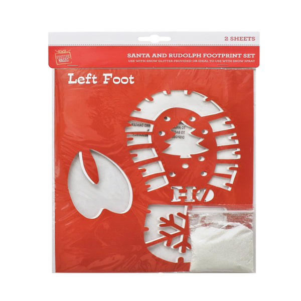 Footprint Snow Spray Stencil Set