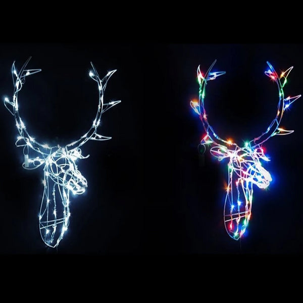 NEW ARRIVAL: LED WIRE STAG HEAD WHITE/MULTI