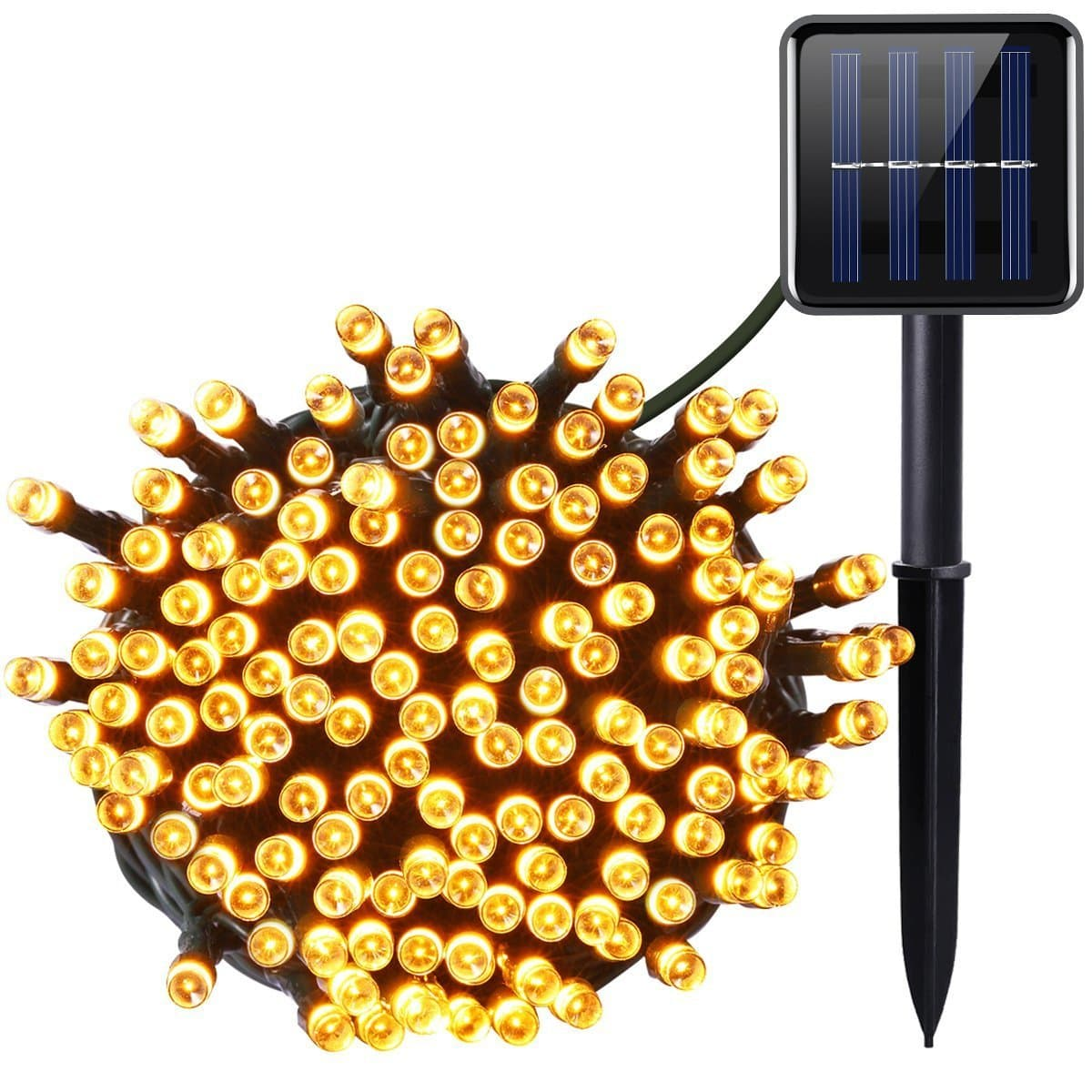 SOLAR LED FAIRY LIGHTS 120 WARM WHITE