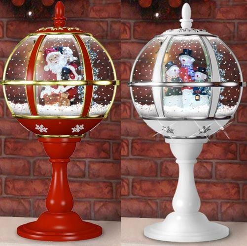 SNOWING SANTA GLOBE WITH UMBRELLA BASE 59cm