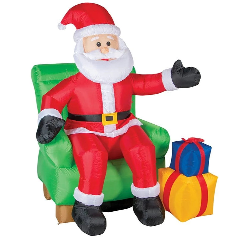 AIRPOWER SANTA ON CHAIR 180cm - Christmas World