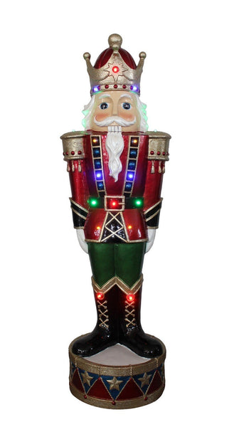 POLY NUTCRACKER WITH LED LIGHTS 93cm Height