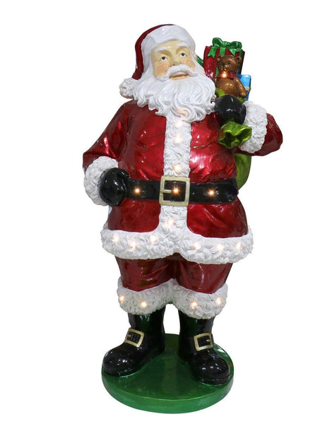POLY SANTA ON BASE WITH LED LIGHTS 160x89x76cm