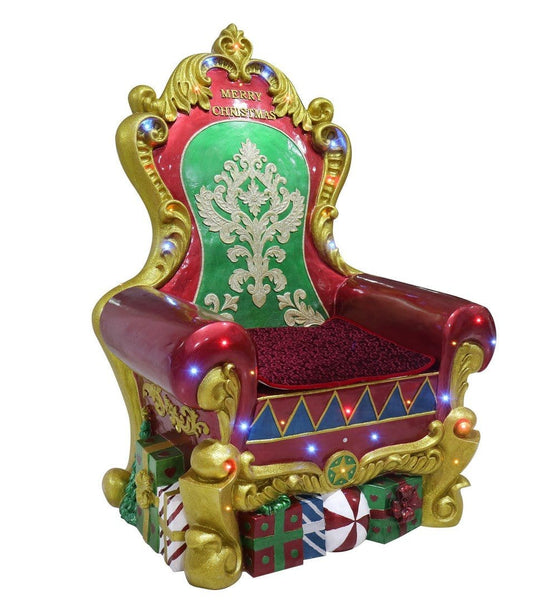 POLY SANTA THRONE WITH LEDS AND MUSIC