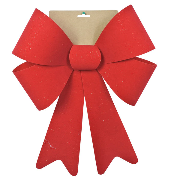 Flocked Red Bow