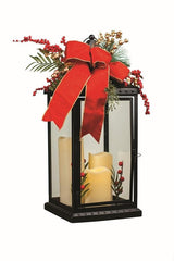 Lantern with 3 LED Candles 52cm