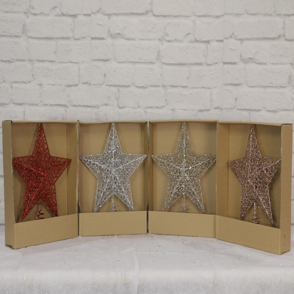 Wire Star Glitter Topper
