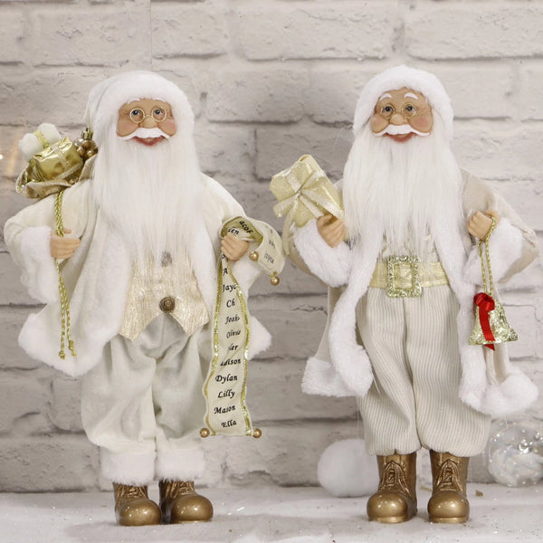 Classic Santa - White and Gold - 45cm