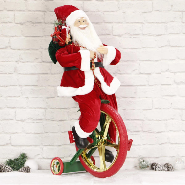 Musical Santa on Unicycle