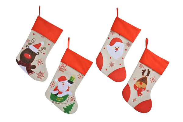 Deluxe Vintage Embroidered Stocking