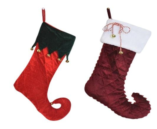 Deluxe Quilted Stocking with Bells