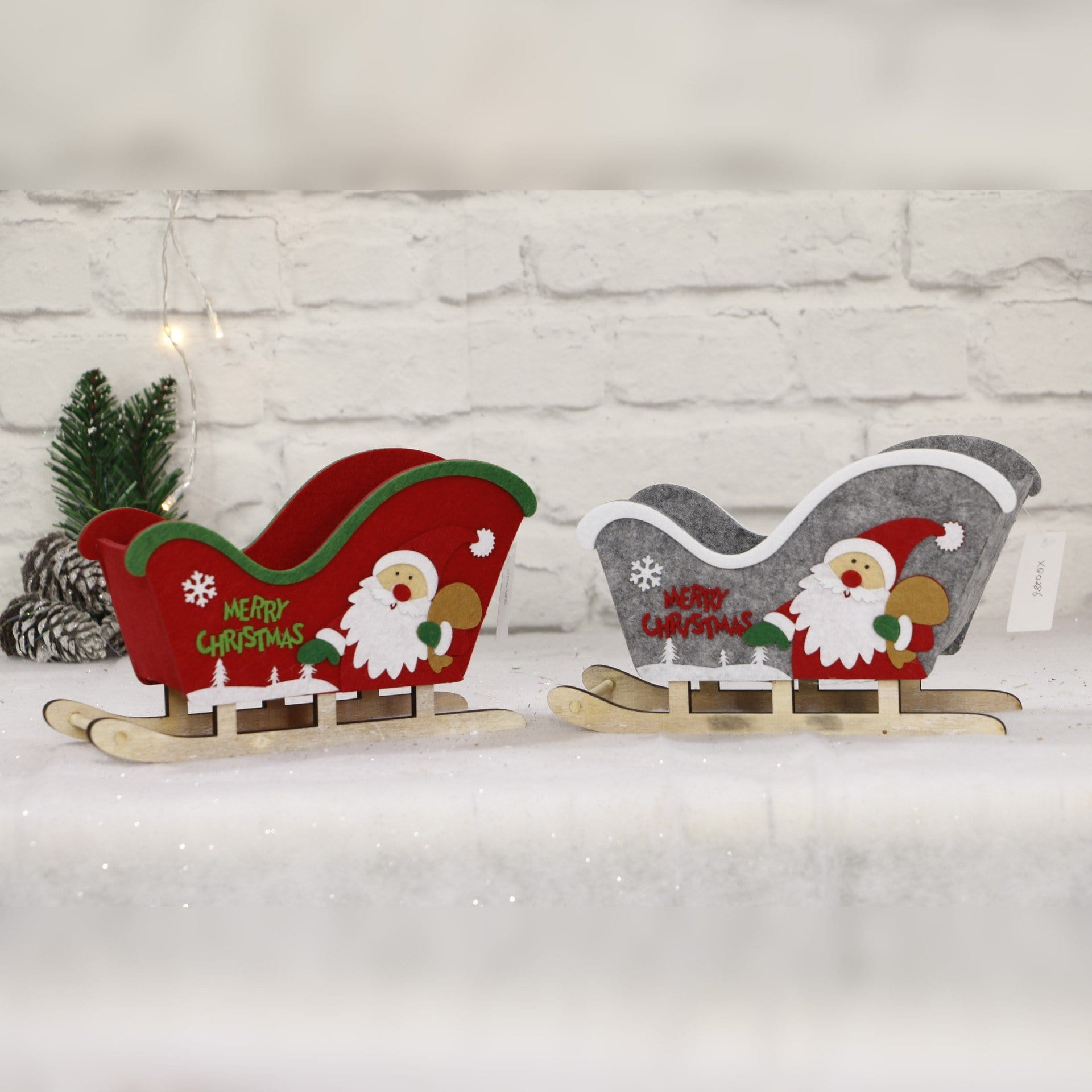Felt Sleigh with Plywood Rails