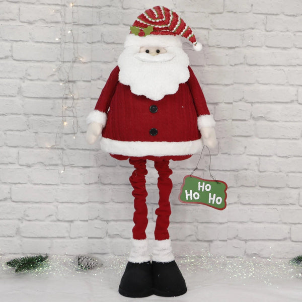 Extendable Santa with 'Ho Ho Ho' Sign - 120cm