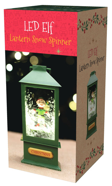 Musical Lantern with Spinning Elf