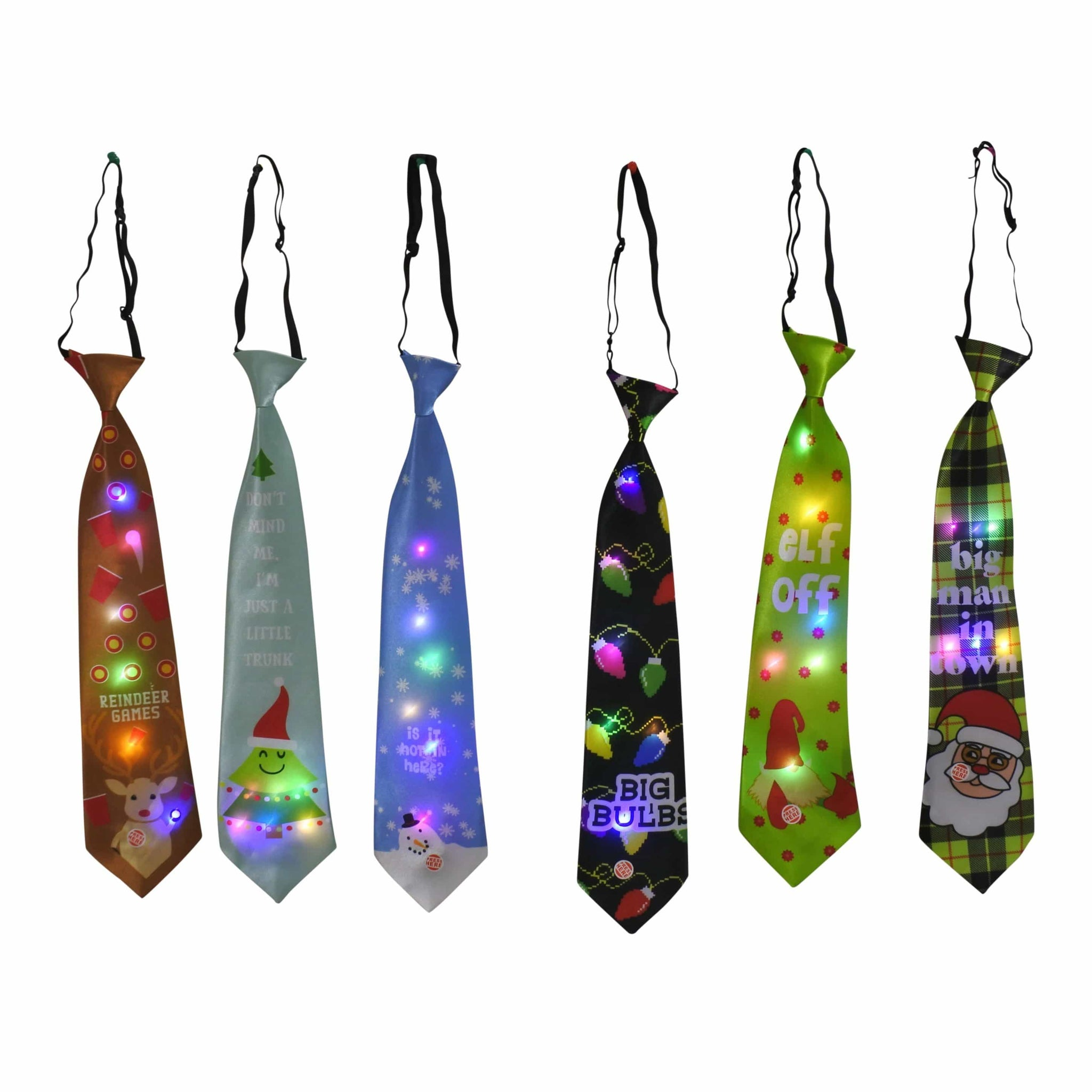 Light-Up Wide Tie