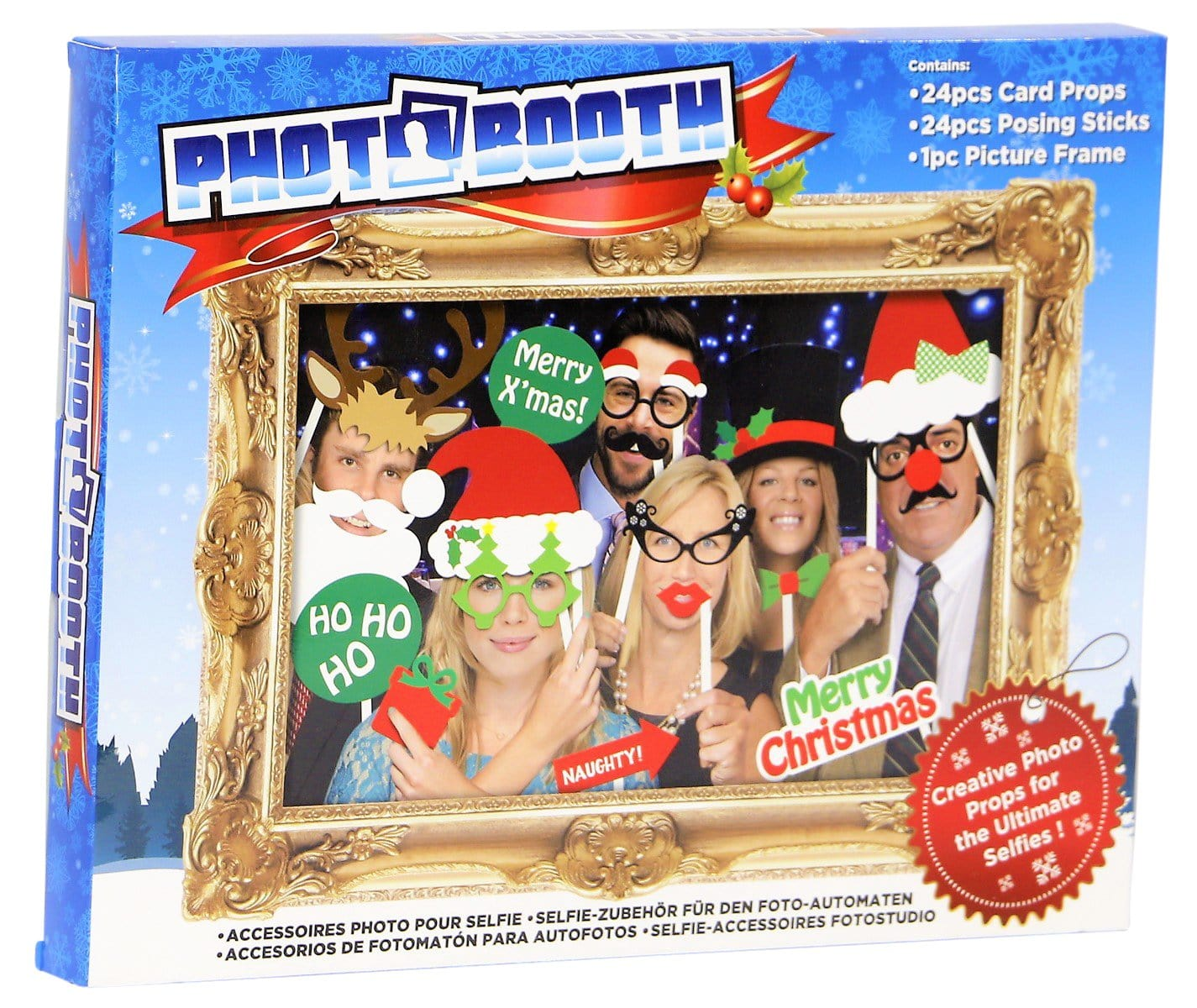 Christmas Photo Booth Frame with Props