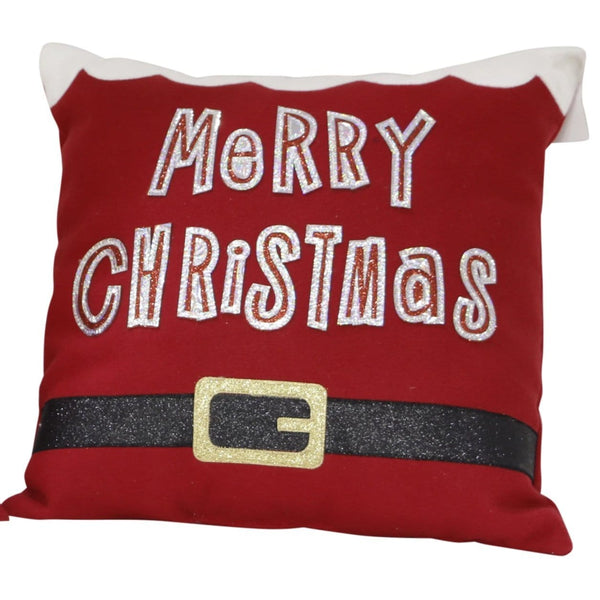 Xmas Greeting Cushion - 35cm by 35cm